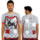Angry Bull 3D Print Fitted T-Shirt Urban Life Monkey Business Hip Hop Top