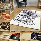 Small Large Modern Rugs Soft Warm Animal Print Floral Striped Patchwork Rugs UK