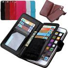 Luxury 9 Card slot Leather Wallet Case Flip Cover For Apple iPhone 6/6S