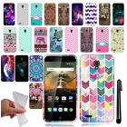 For Alcatel One Touch Conquest 7046T TPU SILICONE Rubber Case Phone Cover + Pen