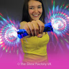 Light Up Double Disco Ball Wand Rainbow Torch Flashing LED