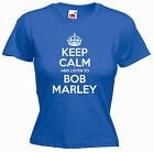 'Keep Calm and Listen to Bob Marley' Ladies Music Girls Funny T-shirt