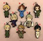 New Hetalia Axis Powers APH THE BEAUTIFUL WORLD Rubber Straps Pendants Keychains