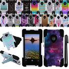 For Nokia Lumia 521 KICKSTAND HYBRID Silicone HARD Protector Case Cover + Pen