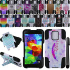 For Samsung Galaxy S5 G900 KICKSTAND HYBRID HARD Silicone Case Cover + Pen