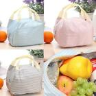 Portable Lunch Bag Stripe Zipper Tote Picnic Insulated Cooler Organizer LunchBox