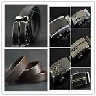 Belt Button Automatic Buckle Belt Calf Leather Belt Auto-Buckle Charming Man LA