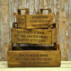 Waxed Wooden Tray Hogwart Witches & Wizardry Storage Box Holder