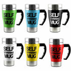 Hot Stainless Steel Lazy Self Stirring Mug Auto Mixing Coffee Tea Cup Mug Office