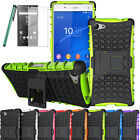 For Sony XPERIA Z5 COMPACT [Slim Armor] Tough Shock Proof Case Stand+ LCD Guard