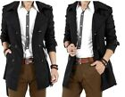 Men's Double Breasted Trench Casual Coat Jacket Overcoat Outwear Winter Hot Cool