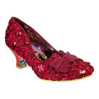 Irregular Choice - Red Dazzle Razzle Lace High Heels Shoes - Womens Footwear