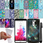 For LG G3 Stylus D690 TPU PATTERN SILICONE Rubber GEL Soft Case Phone Cover +Pen