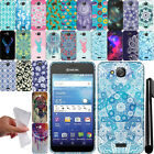 For Kyocera Hydro Wave C6740 Air C6745 TPU PATTERN SILICONE Case Cover + Pen