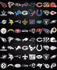 NFL football window bumper sticker vehicle decals Every team - Black or White