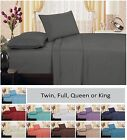 1800 Series Brushed Microfiber Embroidery Vine Sheet Set, Pillowcases, Gray, NEW image