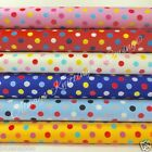 Per half metre/fat quarter cotton poplin Jazzy spots 100 % cotton fabric