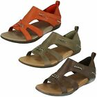 Ladies Merrell Closed Back Summer Sandals Flaxen