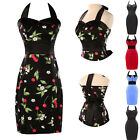 NEW FLORAL 1950s Evening Ball Gown Party Prom Bridesmaid ShortMINI Pencil Dress