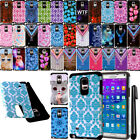 For Samsung Galaxy Note 4 N910 ShockProof HYBRID Silicone HARD Case Cover + Pen