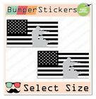 (2x) US Military American Flags USA Car Bumper Sticker Decals Ver.2 SELECT SIZE