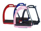 NEW KING QUALITY PEACOCK STIRRUPS HORSE EQUESTRIAN SAFETY IRON FILLIS 4 COLORS