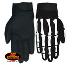Skeleton Bones Men's Motorcycle Mechanic Black Full Finger Biker Gloves GVM2007