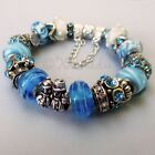 Genuine Sterling Silver Pandora Bracelet With Turquoise B...