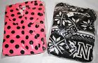NWT $49.95 Victoria's Secret Pink Plush Robe Black & White or Pink XS/S or M/L