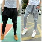 Mens Drop Crotch Jogger Chino Sweat Pants Hippie Sports Dance Harem Trousers LA