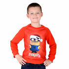 """Kids Christmas Xmas Jumper Boys Girls Sweater - Despicable Me Minion """"Naughty"""""""