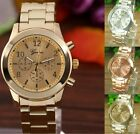 Luxury Fashion Unisex Geneva Watch Women Stainless Steel Quartz Wrist Watches