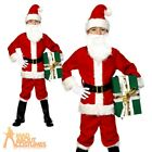 Childrens Deluxe Santa Costume Boys Father Christmas Fancy Dress Outfit New