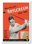 Brylcreem Golf Poster Vintage Retro Print Hairs Old Advert Handsome Man Picture