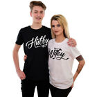 Hubby Wifey Shirts Matching Set Husband and Wife Tee Tops Just Married Wedding