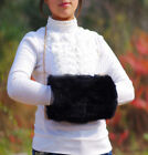 Hot New Winter Luxurious Real Rabbit Fur Muff Hand Warmer 10 Colors One Size