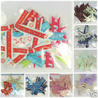 Large ribbon bows variety patterns inc Christmas 12 bows per pack DOCRAFT