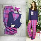 AVON COTTON CHECKED PYJAMAS SET TEDDY BEAR TOP BNWT SIZES 8-26
