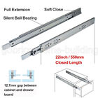 Ball Bearing Drawer Slides/Glides Runners Rear/Side Mount Full Extension 100lb фото