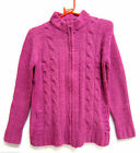 Ladies Ex Chain Store pink zip fastening cardigan