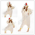 (chicken) Unisex Adult Pajamas Kigurumi Cosplay Costume Animal Onesie Sleepwear