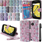 For Motorola Moto E LTE 2nd Gen 2015 Flip Wallet LEATHER POUCH Case Cover + Pen