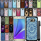 For Samsung Galaxy Note 5 N920 SLIM FIT PATTERN HARD Back Case Phone Cover + Pen