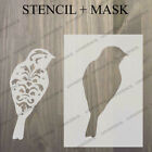 vintage bird stencil template 3 craft fabric glass furniture wall art up to A0