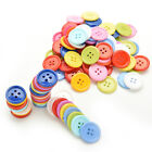 100Pcs Multicolor Sewing Plastic Round Buttons 4 Holes for Kid DIY Crafts D18