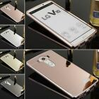 For LG V10 Luxury Aluminum Metal Bumper + Mirror PC Back Case Skin Cover