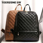 Women Real Leather Quilted Field Pack Brand Backpack Retro Travel Rucksack