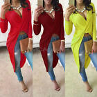 New Fashion Women Sexy Irregular Clubwear Long Mini Dress Cocktail Party Dress
