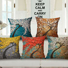 "Third Dimension Tree 18""x45cm Decor Cotton Linen Cushion cover Pillowcase"