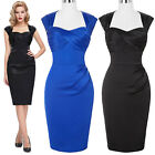 Womens 50s Vintage Swing Pinup Housewife Cocktail Evening Party Dress